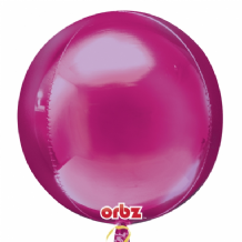 "Hot Pink Orbz Balloon (15"") 1pc"